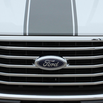 hood close up Ford F150 Truck Bed Decals CENTER STRIPE 2015-2017 2018 2019
