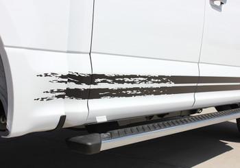 close up of door F150 Rocker Panel Decals 150 BREAKUP ROCKER 2015-2018 2019