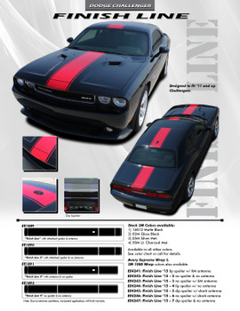 flyer for Dodge Challenger Body Graphics FINISH LINE 2008-2015 2018 2019