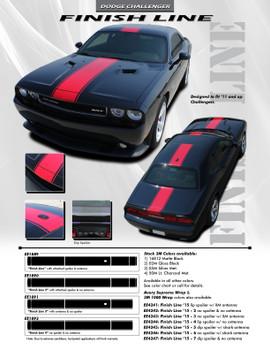 flyer for Dodge Challenger Body Graphics FINISH LINE 2008-2021