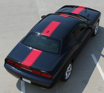 rear of Dodge Challenger Body Graphics FINISH LINE 2008-2021