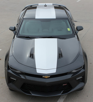 front high view of 2018 Chevy Camaro Wide Stripes OVERDRIVE SS RS 2016 2017 2018