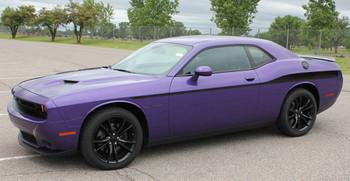 profile of purple Dodge Challenger Body Side Decals ROADLINE 2008-2017 2018 2019