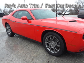 front angle of Dodge Challenger Side Graphics SXT 2011-2018 2019 2020 2021