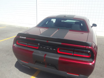 rear angle of 2018 Dodge Challenger Rally Stripes 15 CHALLENGE RALLY 2015-2021