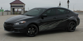 side of black Dodge Dart Body Graphics RIPPED DART 3M 2013 2014 2015 2016