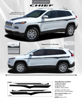 flyer for Side Stripes for Jeep Cherokee CHIEF Decals 2014-2021