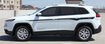 profile of white Side Stripes for Jeep Cherokee CHIEF Decals 2014-2017 2018 2019
