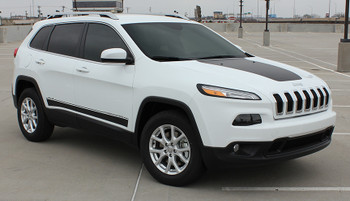 front angle of 2016 Jeep Cherokee Side Graphics BRAVE 2014-2021