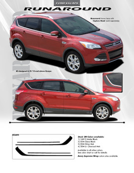 flyer for Ford Escape Side Graphics RUNAROUND 2013-2016 2017 2018