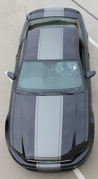 top view of Wide Center Stripes on Ford Mustang VENOM 3M 2013-2014