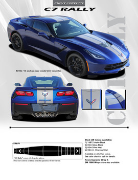 flyer for Chevy Corvette Rally Stripes C7 CORVETTE RALLY 2014-2018 2019