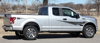 side angle of Ford F150 Side Door Stripes APOLLO 2015 2016 2017 2018 2019 2020