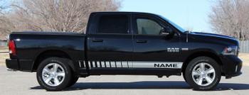 profile of Dodge Ram Side Door Stripes RAM ROCKER STROBE 2009-2017 2018