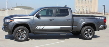 driver side of Toyota Tacoma Side Stripe Decals CORE 2015 2016 2017 2018 2019
