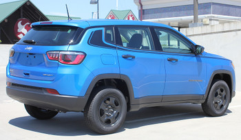 rear angle of NEW! Trailhawk style Jeep Compass Stripes ALTITUDE 2017-2020