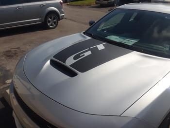 silver FAST! OE style Daytona Dodge Charger Hood Stripes 2015-2021