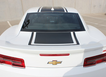 rear of 2015 Chevy Camaro Wide Center Decals Graphics BEE 3 2014-2015