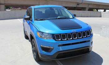 front angle of Jeep Compass Hood Stripe BEARING HOOD 2017 2018 2019 2020