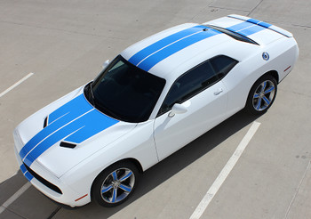top view of 2017 Dodge Challenger Racing Stripes WING RALLY 2015-2019