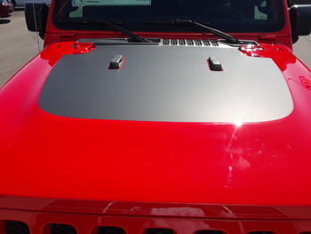 top of red 2019 Jeep Wrangler Hood Decals SPORT HOOD 2018-2020