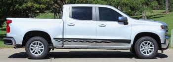 side of silver 2019 Chevy Silverado Decals SILVERADO ROCKER 2 2019-2021