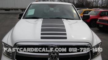 front of Dodge Ram Power Wagon Stripes POWER TRUCK KIT 2009-2018