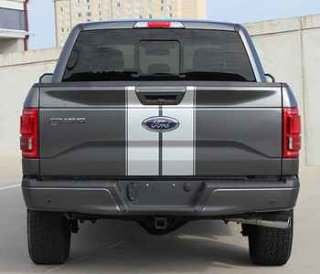 rear of Ford F150 Duel  Racing Stripes F-RALLY 2015 2016 2017 2018 2019 2020