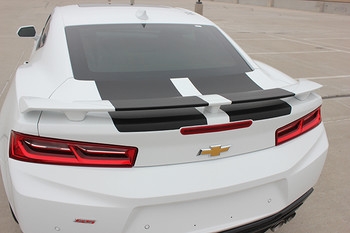 rear of white 2018 Chevy Camaro Rally Stripes CAM SPORT 2016 2017 2018