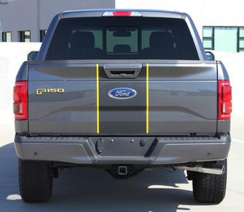 rear of Ford F150 Center Vinyl Wrap Decals BORDERLINE 2015-2018 2019 2020