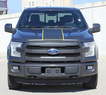 front of Ford F150 Center Vinyl Wrap Decals BORDERLINE 2015-2018 2019