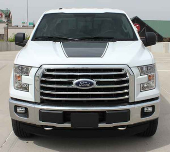 front of 2015  F150 Hood Decal FORCE HOOD 2009-2016 2017 2018 2019 2020