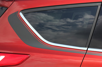 close up of quarter Ford Escape Side Door Stripes RUNAROUND 2013-2016 2017 2018