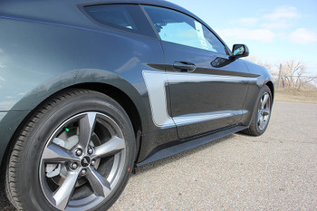 close up 2015 Ford Mustang with Racing Stripes REVERSE 2015-2017