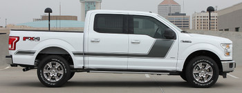 side of white 2017 Ford F150 Side Graphics FORCE 2 3M 2009-2020