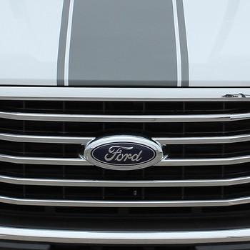 hood of F150 Truck Center Racing Stripes 150 CENTER 3M 2015-2018 2019