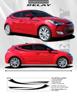 flyer for Hyundai Veloster Upper Body Graphics RELAY 2011-2017 2018