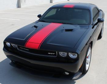 front of Dodge Challenger Center Wide Stripes FINISH LINE 2015-2020