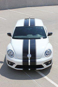 front of VW Beetle Racing Stripes BEETLE RALLY 2012-2017 2018 2019