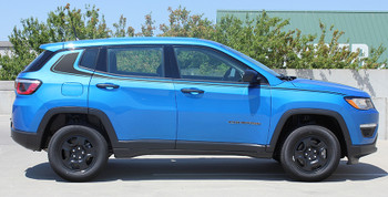 side of blue Jeep Compass Side Decals ALTITUDE Package 2017 2018 2019 2020