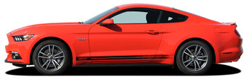 side of Ford Mustang Rocker Panel Stripes 2015 2016 2017 BREAKUP