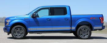 side of Rocker Panel Stripes for Ford F150 15 150 ROCKER 1 2015-2019