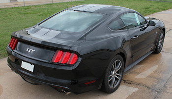2. Faded Racing Stripes for Ford Mustang FADED RALLY 2015 2016 2017
