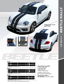 flyer for VW Beetle Rally Stripes BEETLE RALLY 2012-2016 2017 2018 2019