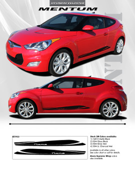 flyer for Lower Rocker Graphics for Hyundai Veloster 3M MENTUM 2011-2018