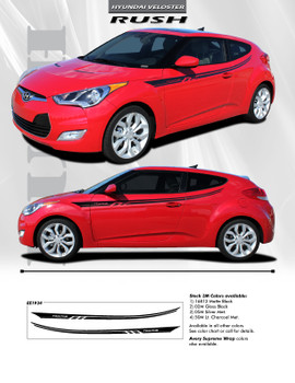 flyer for Hyundai Veloster Side Door Stripes RUSH 2011-2016 2017 2018
