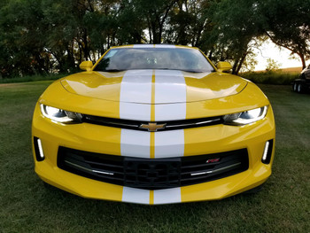 front of Chevy Camaro Rally Stripes TURBO RALLY 2016 2017 2018