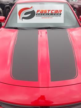 Dodge Charger Hood Decals RECHARGE 15 HOOD 2015-2021