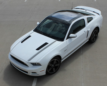 top view of white 2013 Mustang California Decals MUSTANG CALI EDITION 2013-2014