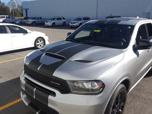 front angle of Dodge Durango RT Stripes DURANGO RALLY 2014-2018 2019 2020